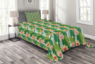 Exotic Hawaiian Botanic Bedspread Set
