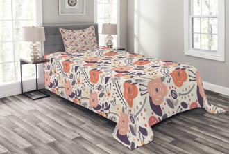 Vintage Doodle Floral Bedspread Set