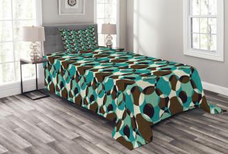 Grungy Geometric Circles Bedspread Set