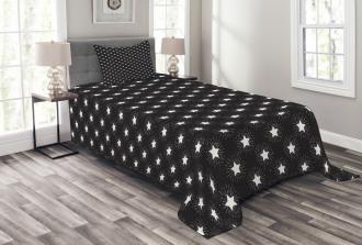 Grungy Stars Rays Theme Bedspread Set