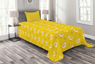Dots Chicken Haystack Bedspread Set