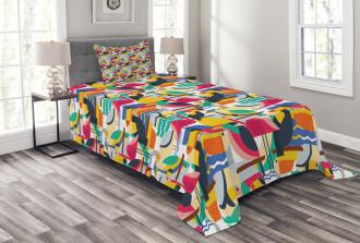 Toucan and Flamingos Bedspread Set