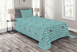 Snippet Connivent Sparrow Bedspread Set