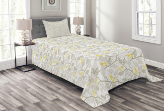 Abstract Lobed Leaves Bedspread Set