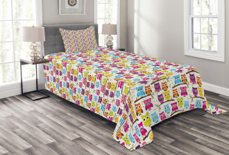 Winking Long-Eared Owl Bedspread Set
