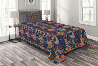 Mythical Rising Phoenix Bird Bedspread Set