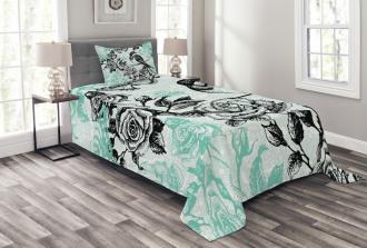 Mockingbird on Rose Tree Bedspread Set
