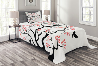 Mockingbird on Plane Tree Bedspread Set
