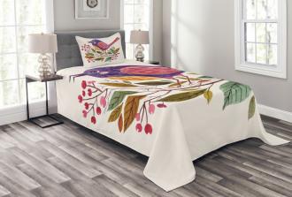 Scarlet Firethorn Flower Bedspread Set