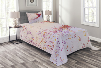 Curly Feather Hummingbird Bedspread Set