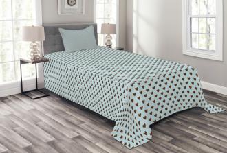 Grungy Hearts Bedspread Set