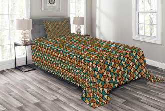 Retro Grid Triangles Bedspread Set