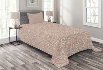 Ottoman Curls and Dots Bedspread Set