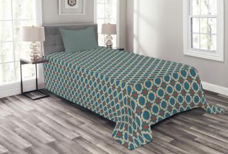 Round Shapes Squares Bedspread Set