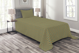 Simple Rhombus Cells Tile Bedspread Set