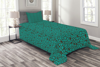Abstract Tile Bedspread Set