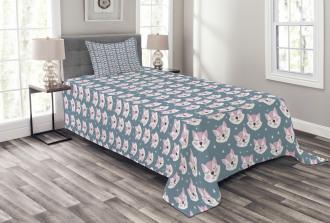 Sleeping Fox Sky Stars Bedspread Set