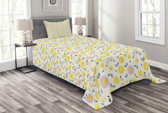 Pastel Summer Flowers Bedspread Set