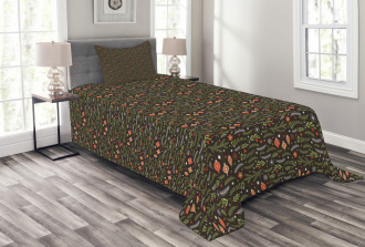 Mistletoe Pine Branch Bedspread Set