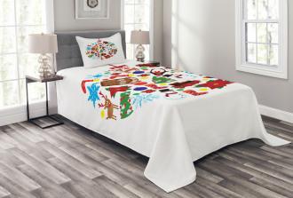 Traditional Noel Joy Bedspread Set