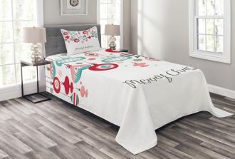 Noel Season Elements Bedspread Set