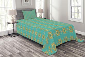 Geometric Tile Bedspread Set