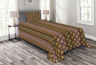 Peacock Motif Bedspread Set