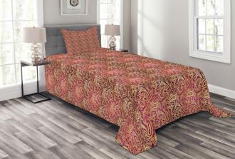 Swirly Oriental Bedspread Set