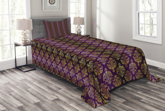 Oriental Leaf Dot Bedspread Set
