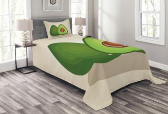 Organic Freshness Theme Bedspread Set