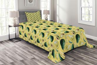 Watercolor Summer Food Bedspread Set