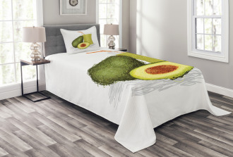 Fresh Avocado Smoothie Bedspread Set