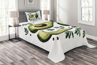 Tropical Fruit Elements Bedspread Set