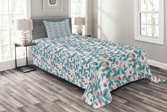 Spring Season Raspberries Bedspread Set