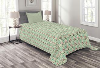 Oriental Culture Flowers Bedspread Set