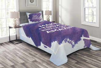 Make Today Amazing Text Bedspread Set
