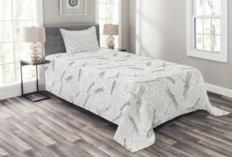 Foliage Leaves Spring Bedspread Set