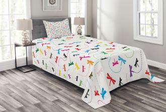 Spring Wildlife Motif Bedspread Set