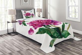 Peonies and Dragonflies Bedspread Set
