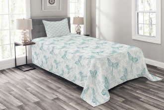 Parsley Leaves Bugs Bedspread Set