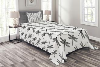Sketch Wings Bedspread Set