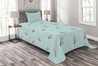 Hand Drawn Lines Bedspread Set