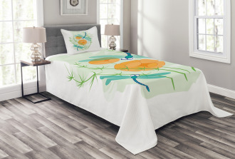 Colorful Nature Bugs Bedspread Set