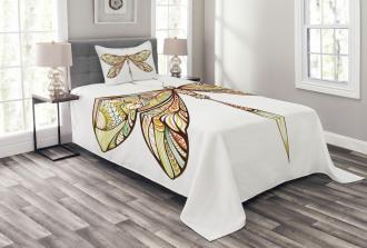 Colorful Bug Design Bedspread Set