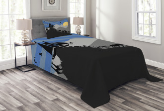 Pair of Creatures Ark Bedspread Set