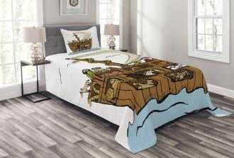 Ancient Flood Story Bedspread Set