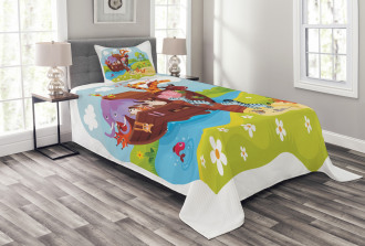 Animals Boarding Ark Bedspread Set