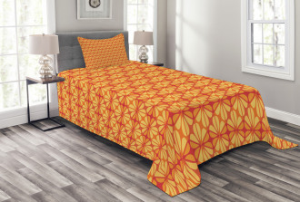 Floral Modern Mosaic Bedspread Set