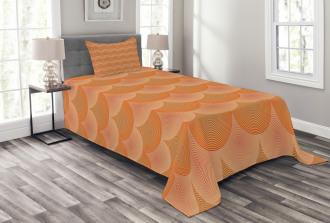 Optic Circles Graphic Bedspread Set
