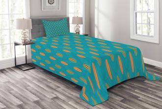 Wave Board Summer Pattern Bedspread Set